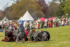 [2014-04-19@15.17.24a] (Untempered Photography) Tags: history costume helmet battle medieval bow weapon sword target knight shield arrow archery armour reenactment combatant chainmail canonef50mmf14 perioddress polearm platearmour shieldwall gambeson poleweapon mailarmour untemperedeye canoneos5dmkiii untemperedeyephotography glastonburymedievalfayre2014