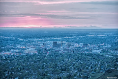 Boise Skyline Spring (fandarwin) Tags: city trees sunset skyline fan spring darwin panasonic idaho boise gf1 45200 fandarwin