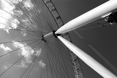 London Eye (blacksplat) Tags: sky bw london eye wheel architecture mono landmark ferris