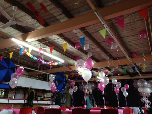 Heliumballonnen Wit Fuchsia Transparant met Harten AOP