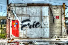 Eric (Malcolm Bull) Tags: building graffiti eric demolition hdr shoreham parcelforce 20140422shoreham001789tonemappededited1web