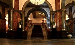 Lobby (Wim Bollein) Tags: light london classic architecture stairs carpet hotel russel victorian marble
