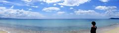 0958 - orizzonti (Marcello Treglia) Tags: sardegna sky italy cloud 120 italia mare sardinia colore nuvola digitale sabbia orizzonte spiaggiadelpoetto marcellotreglia fujifilmx20