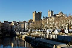 Narbonne (Thierry Poupon) Tags: soleil canal lumire ciel pont narbonne robine donjon saintjust promenadedesbarques
