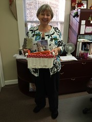 Paula C. enjoyed every bit of her basket of goodies given to her by her Secret Encourager!
