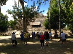 Chacchoben plaza pyramid