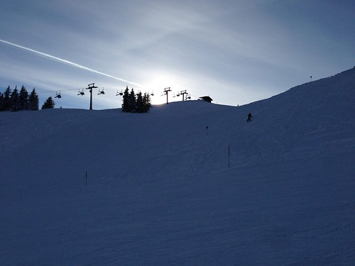 Shades of blue - ski slope & sky