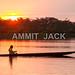 Cuyabeno sunset with canoe