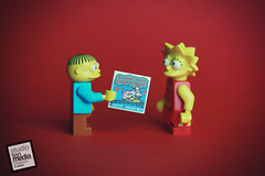 I choo-choo choose you. Happy Valentine's Day! (Debbie Hickey) Tags: macro canon studio tile photography lego bricks cartoon lisa card thesimpsons minifigs collectables tipperary ralph lightbox moc personalised afol minifigures valentinescard legosystem studiotenphotography legotile studiotenmedia