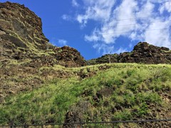 (Jason Cales) Tags: ocean moon water beautiful hawaii oahu hiking gorgeous caves cave makaha kaenapoint makua makahacoast makuacaves