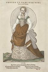 'Foemina ex Praecipua Nobi' from Trachtenbuch von Nurnberg (Costume Book of Nuremberg), no CXIX LACMA M.87.164.1