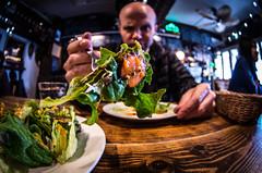 Eat your greens (namaikisaru2012) Tags: salad fork fisheye