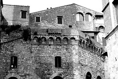 San Gimignano, Tuscany, Italy. (SETIANI LEON) Tags: voyage old city italy white black building tower architecture canon buildings eos town italian san italia noir tour gimignano ngc sienna journey tuscany 7d and siena sangimignano toscane et blanc italie sienne immeuble flickrtravelaward