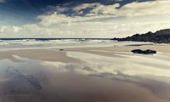 Virgin Sands (Bruus UK) Tags: morning seascape reflection beach landscape marine rocks cornwall surf pentax empty fresh atlantic coastal lowtide sands stives porthmeor theisland wetsand