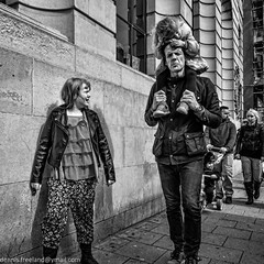 """""""Will you stop talking just about SWEETS"""" (dens_lens) Tags: street england brighton candid"""