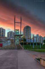 New West Sunset (maestro17ca) Tags: longexposure nightphotography sunset architecture clouds twilight glow riverside britishcolumbia quay boardwalk hue fraserriver hdr newwestminster landscapephotography tokina1116mm nikond7000
