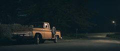 The Lonesome Highway (C A Soukup) Tags: sanfrancisco nightphotography pickup cinematic oldtruck likeamovie