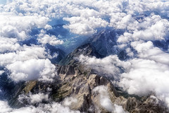 33 000 feet above the Alps (marko.erman) Tags: mountains alps travelling clouds plane landscape austria flying high rocks view hugh altitude sony sunny depth aerialphotography