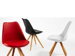 Bralf sedia gambe in legno e plastica (design italiano) Tags: sedia seduta legno plastica polipropilene imbottita