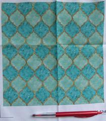 Turquoise Quatrefoil - Small (Marble Mountain Media) Tags: gold arabic fabric material lattice moroccan quatrefoil