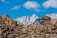Mt. Whitney -  [Explore - May 24, 2016] (www.karltonhuberphotography.com) Tags: california sky nature clouds outdoors rocks spires mountainclimbing boulders granite destination tall geology wilderness mtwhitney challenge aweinspiring rugged rockformations naturalframe highest sierranevadamountains easternsierra alabamahills 2016 mountainpeaks sierranevadafoothills wideopenspaces wildplaces sierracrest crookspeak geologicwonder thirdneedle karltonhuber kellerneedle