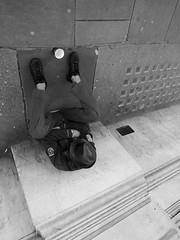 A Window Shot (Padski1945) Tags: people blackandwhite monochrome mono blackwhite streetphotography streetscene blackandwhitephotography lookoutbehindyou adifferentpointofview