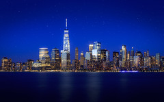 """NYC Skyline- Standing High"" (Mahir Rafi) Tags: nyc waterfront skyline skyscrapper freedomtower pride building nightscape lightexposure longexposure hudson cityscape urban"