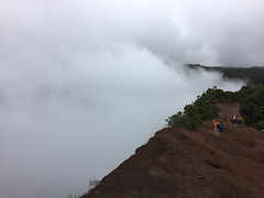 Clouds Forming Realtime (bruzasd) Tags: hawaii coast lookout kauai napali 2016