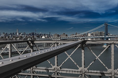 Manhattan bridge from Brooklyn (http://arnaudballay.wix.com/photographie) Tags: voyage bridge usa newyork architecture us nikon cityscape manhattan brooklynbridge manhattanbridge empirestatebuilding chryslerbuilding avril ville 2015 d610 tatsunis