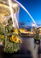 Fontaine des Mers, Place de la Concorde, Paris (David MONSU Photography) Tags: sunset paris bluehour placedelaconcorde parisbynight fontainedesmers sunsetparis
