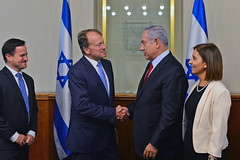 PM Netanyahu meets with Cisco chairman John Chambers (Prime Minister of Israel) Tags: israel jerusalem isr