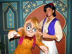 Abu and Aladdin (meeko_) Tags: world party halloween monkey florida magic kingdom prince disney characters aladdin waltdisneyworld walt abu themepark magickingdom adventureland mickeys disneycharacters notsoscary mickeysnotsoscaryhalloweenparty