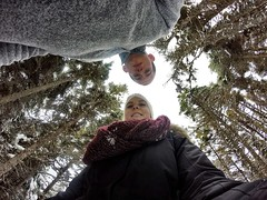 Hiking on the East Coast Trail (RebeccaPrice93) Tags: canada newfoundland hiking treetops lookingup lookingdown selfie ect eastcoasttrail outercove gopro cobblerspath