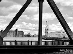 All rights reserved Collette Rawlinson (Collette Rawlinson) Tags: water liverpool river outdoors waterfront view warehouse railing crain mersey merseyside