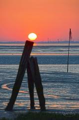 Sunrise and low tide (MaiGoede) Tags: sunrise landscape nikon meer northsea lowtide landschaft nordsee sonnenaufgang ebbe wattenmeer niedersachsen ammeer nordseekste fedderwardersiel