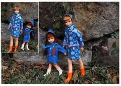 RAINY DAYS AND FRIDAYS (ModBarbieLover) Tags: mod skipper chris tutti doll rain rainwear barbie 1966 1967 showers tnt