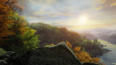 VOEC - 004 (Yousbob - Screenshotgraphy !) Tags: bridge sunset mountain lake game nature water colors contrast forest landscape ethan steam gaming carter concept vanishing beautifull