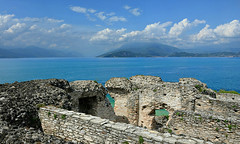 view from the grottoes of catullus (sirmione - brescia, italy) (bloodybee) Tags: 365project sirmione brescia italy europe lake garda benaco grottoesofcatullus grottedicatullo roman ruin villa water landscape sky clouds blue