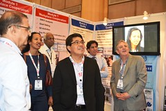Mr. Gabriel Bordado, Skills & Employment Specialsit, ILO-DWT, New Delhi along with ILO officials in SCORE Stall (ILO in Asia and the Pacific) Tags: india norad seco smes employment working conditions social dialogue