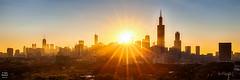 Good Morning Chicago (Tobias Neubert Photography) Tags: skyline chicago sonnenufgang sunrise sonne sun sunrays sonnenstrahlen hancockcenter johnhancockcenter willistower searstower hdr illinois usa