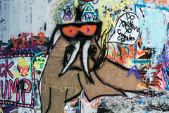 Do You Have Yo Goggles On? (panzergrenadierphotography) Tags: life street lake streetart get art abandoned nature alaska architecture outdoors 50mm nikon paint tag spray tagged anchorage spraypaint fucked 18g d7100