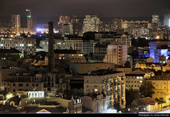 View from Khreschatyk Park @ Night, Kiev, Ukraine (JH_1982) Tags: khreschatyk park  view aussicht lights light leuchten dunkel dark darkness nacht night nuit noche notte    lumire luz   evening buildings city lit windows friendship nations arch peoples    kiev kyiv kiew      kijw   ukraine   ucrania ucrnia    ukraina ukrayna