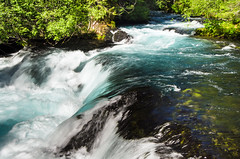 Blues of Summer (Tom Fenske Photography) Tags: blue summer motion blur green nature wet water oregon river outdoors fast falls rapids wilderness mckenzie