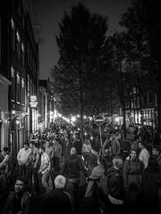 red light district of amsterdam (xtj7) Tags: street party blackandwhite bw holland netherlands dutch amsterdam drinking streetphotography olympus nightlife redlight omd em1 olympusomd