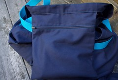 Ikea bag larger zipper pocket (foxthreads) Tags: beach bag sewing gym tote