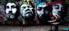 nos tronches  - ma gueule (Rhisiart Hincks) Tags: graffiti celfystryd streetart murlun mural dealbhbhalla livadurmoger bretagne bretenvian abhreatainnbheag anbhriotin llydaw bretenvyghan  breta brittany bretaina bretagna bretaa  bretania bretainia breizh bretanya  armorica    tbwyta tidebri jatetxe taighbdh restaurant homme hombre dyn man gizon paotr male yngweithio olabourat agobair lanegiten working portrait erretratu poltred portread pevar pedwar lau ceithir four quatre hiri city dinas kr bailemr