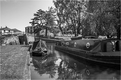 Barges at Stourport (brianac37) Tags: england blackandwhite river boats canal riversevern locks worcestershire barges stourport wyreforest stourportonsevern