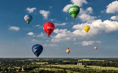 Kiel week -  Hot air ballooning II (Stefan Sellmer) Tags: sun color water festival de landscape deutschland colorful outdoor bluesky balticsea hotairballoon kiel schleswigholstein kielweek heikendorf