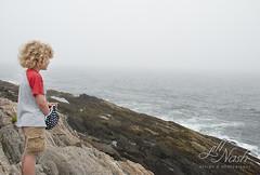 Moody day at sea (grilljam) Tags: summer hiking seamus ewan baileyisland 4yrs overcastday giantsstairs 65yrs june2016 stillagreatone