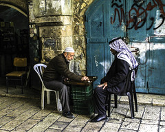 Arabs Playing Backgammon (corey jackson) Tags: jerusalem israel backgammon souk middleeast travel
